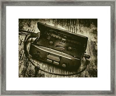 Walkman Framed Print by Wim Lanclus