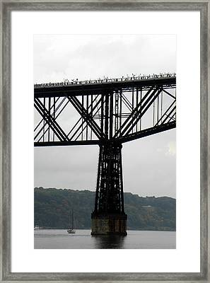 Walkway Over The Hudson  Opening Day 2009  No 13 Framed Print by Joseph Duba