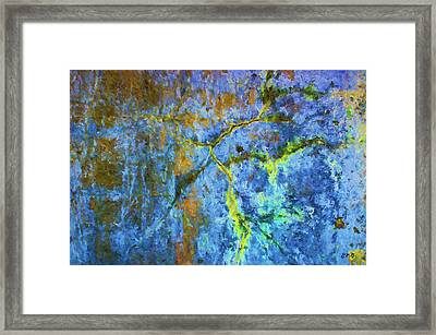 Wall Abstraction I Framed Print by Dave Gordon