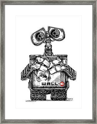 Wall-e Framed Print by James Sayer