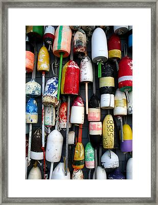 Wall Of Buoys Framed Print by Doug Hockman Photography