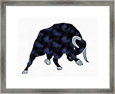 Wall Street Bull Market Series 1 Framed Print by Edward Fielding