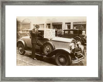 Wall Street Crash, 1929 Framed Print by Granger