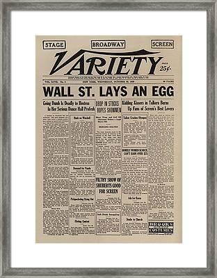 Wall Street Lays An Egg. Famous Framed Print by Everett