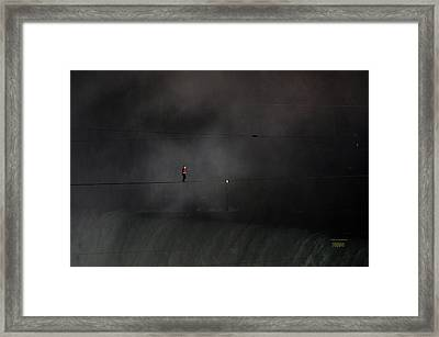 Wallenda Water And Wind Walk Niagara Falls Framed Print by J R Baldini