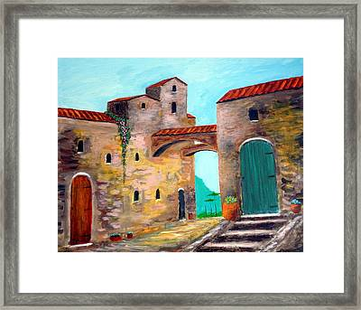 Walls Of Time Framed Print by Larry Cirigliano