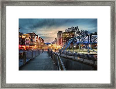 Walnut Street Circle Sunset Framed Print by Steven Llorca