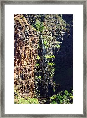 Walpoo Falls Framed Print by Michael Peychich