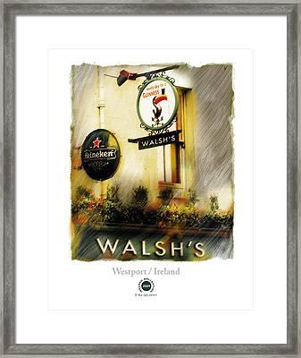 Walsh's Framed Print by Bob Salo