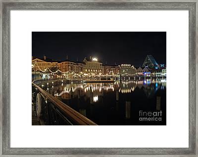 Walt Disney World - Boardwalk Villas  Framed Print by AK Photography