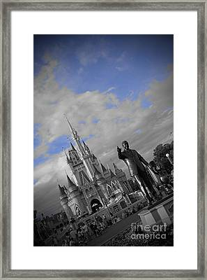 Walt Disney World - Partners Statue Framed Print by AK Photography