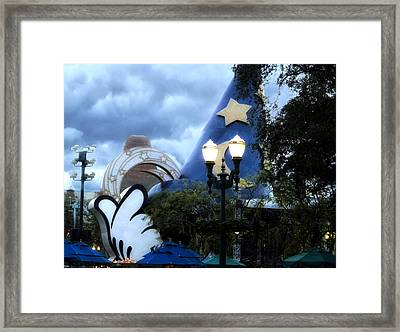 Walt Disney World Home Of The Wizard Framed Print by Thomas Woolworth