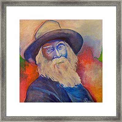Walt Whitman Framed Print by Robert Lacy