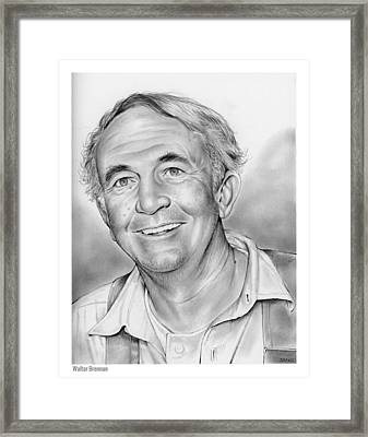 Walter Brennan Framed Print by Greg Joens