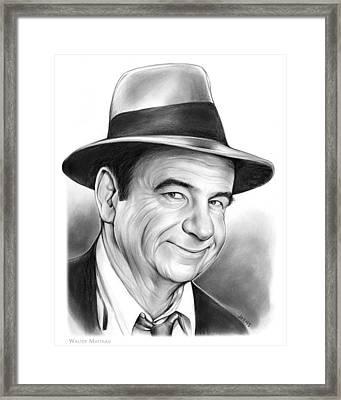 Walter Matthau Framed Print by Greg Joens