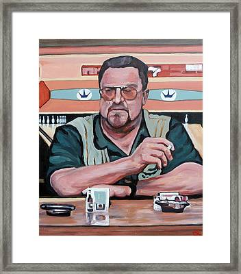 Walter Sobchak Framed Print by Tom Roderick