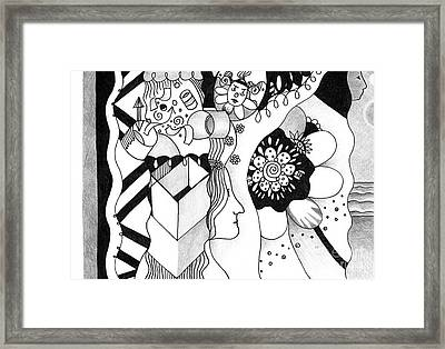 Wandering And Wondering Framed Print by Helena Tiainen