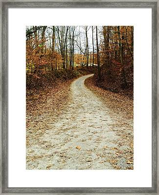 Wandering Road Framed Print by Russell Keating