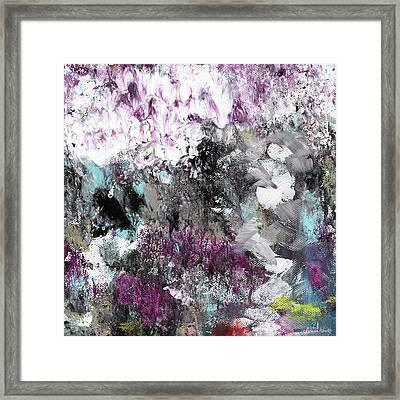 Wanderlust- Abstract Art By Linda Woods Framed Print by Linda Woods