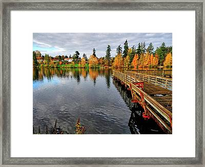 Wapato Dock Framed Print by Tim Coleman
