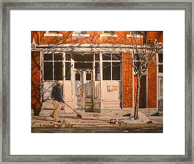War At Home Framed Print by Thomas Akers