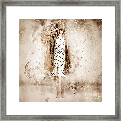 War Effort Pin-up Poster Girl Framed Print by Jorgo Photography - Wall Art Gallery