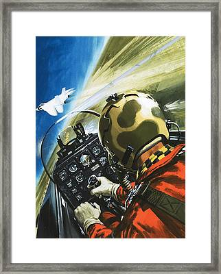 War In The Air Framed Print by Wilf Hardy