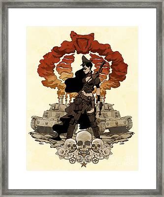 War Maiden Framed Print by Brian Kesinger