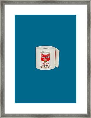 War Roll - Poop Art Framed Print by Nicholas Ely