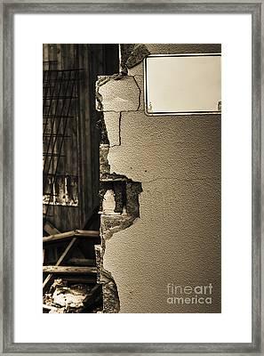 War Torn Wall Framed Print by Jorgo Photography - Wall Art Gallery