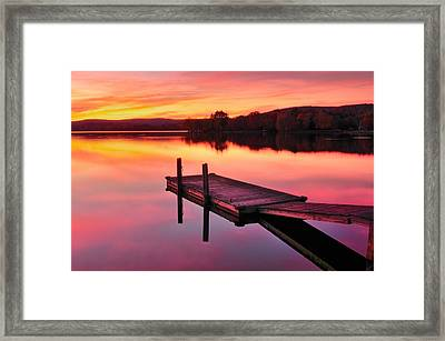 Waramaug Sunset Framed Print by Thomas Schoeller