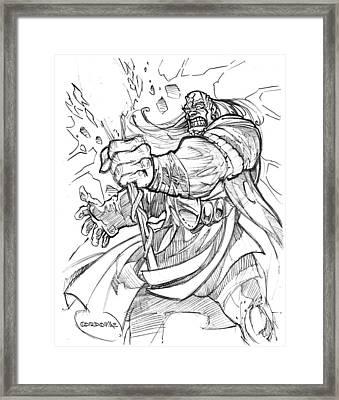 Warcraft Art Framed Print by Isaac Cordova
