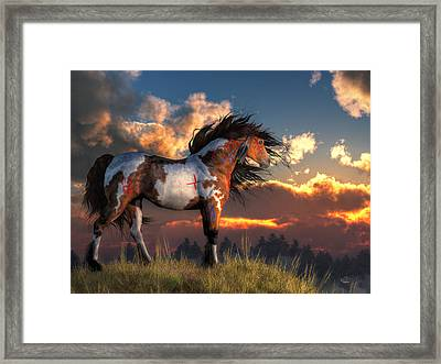 Warhorse Framed Print by Daniel Eskridge