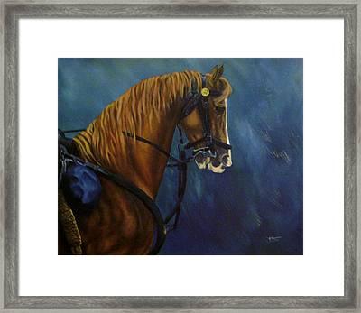Warhorse-us Cavalry Framed Print by Joann Renner
