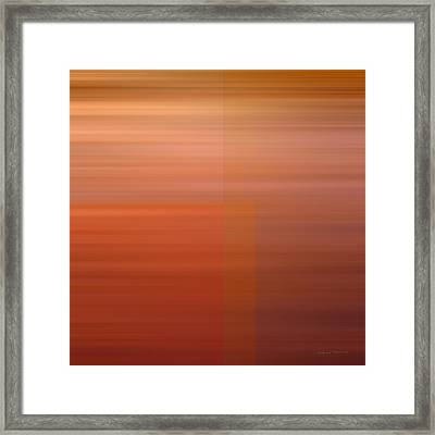 Warm Abstract Framed Print by Leland D Howard