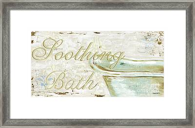 Warm Bath 1 Framed Print by Debbie DeWitt