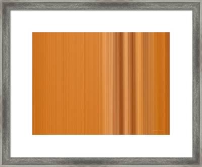 Warm Line Framed Print by Leland D Howard