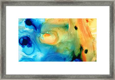 Warm Tides - Abstract Art By Sharon Cummings Framed Print by Sharon Cummings