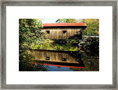Warner Covered Bridge Framed Print by Greg Fortier