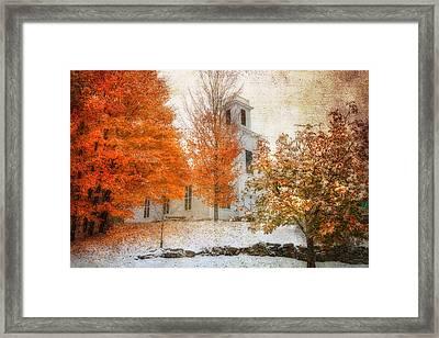 Warren United Church Of Christ Framed Print by Joann Vitali