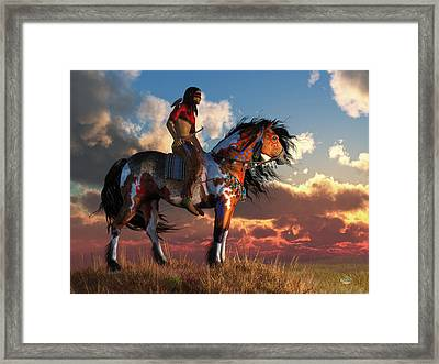 Warrior And War Horse Framed Print by Daniel Eskridge
