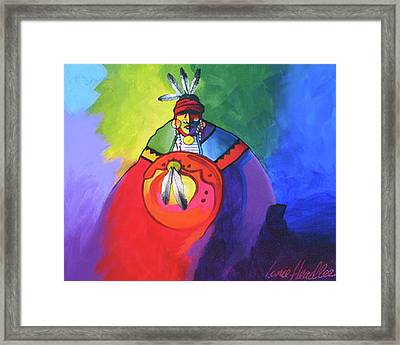 Warrior Colors Framed Print by Lance Headlee