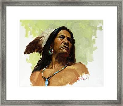 Warrior De Framed Print by Gary Kim