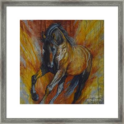 Warrior Framed Print by Silvana Gabudean