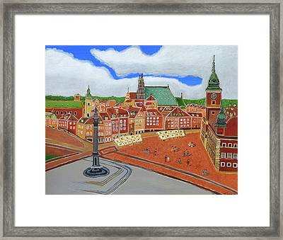 Warsaw- Old Town Framed Print by Magdalena Frohnsdorff