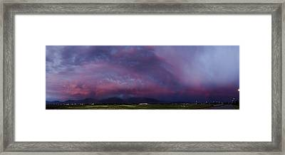 Wasatch Mountain Sunset Framed Print by La Rae  Roberts