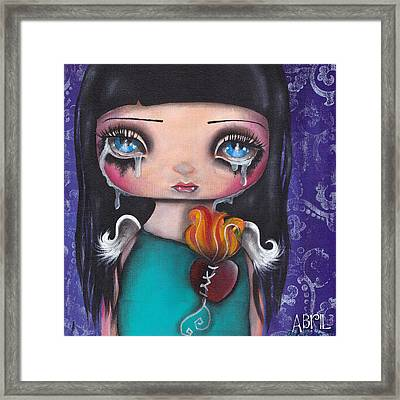 Wash Away My Tears Framed Print by  Abril Andrade Griffith