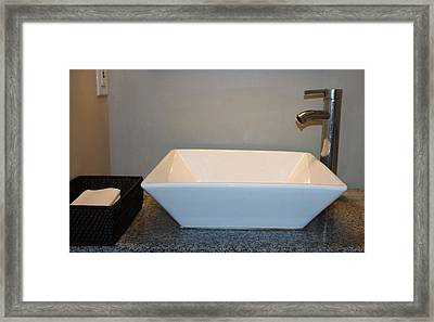 Wash Bowl And Faucet Framed Print by Cynthia Guinn