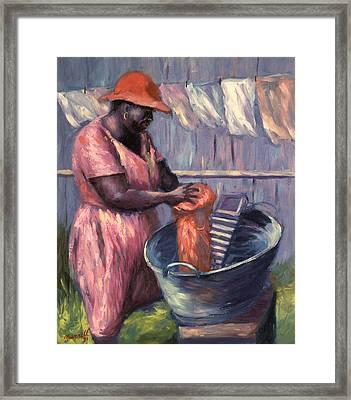 Wash Day Framed Print by Carlton Murrell