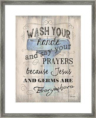 Wash Your Hands Framed Print by Debbie DeWitt